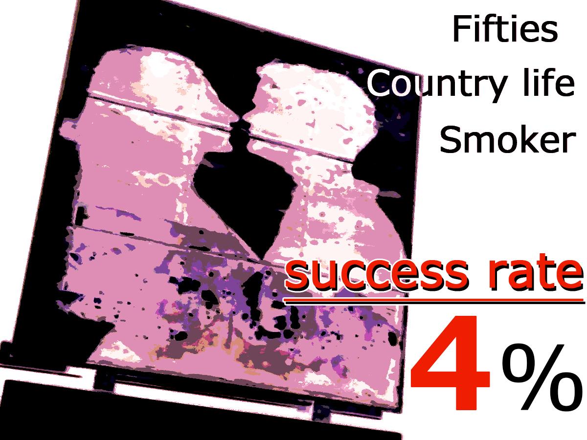 出会い系における「50代・田舎暮らし・喫煙者」の勝率は約4%(暫定)